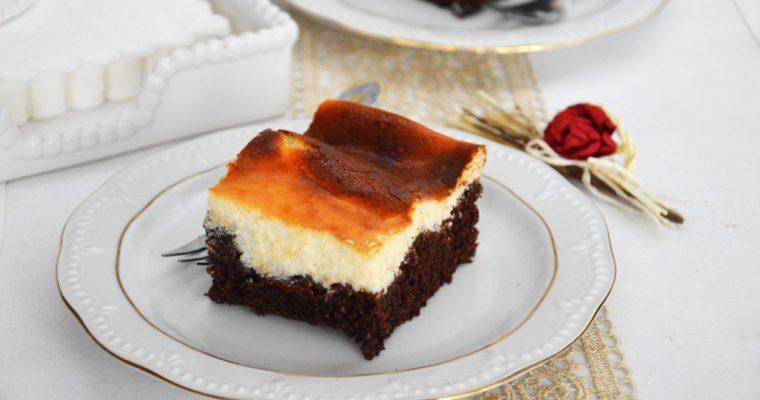 Izaura, czyli czekoladowe ciasto z sernikiem