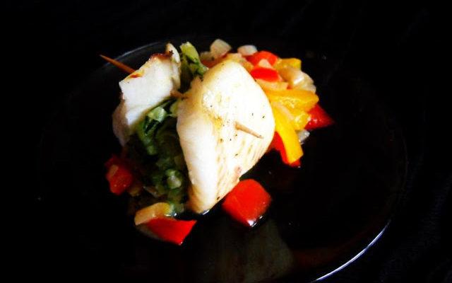 Roladki rybne z warzywami