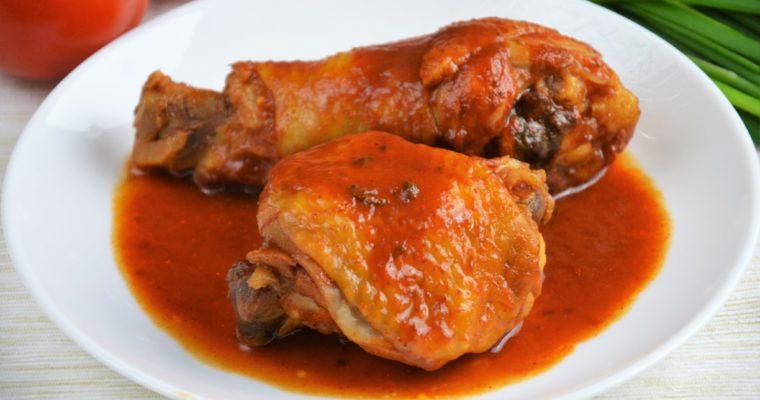 Udka z kurczaka w marynacie pomidorowo-sojowej