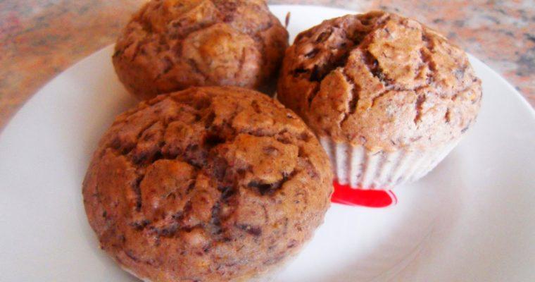 Muffinki z czerwonej fasoli