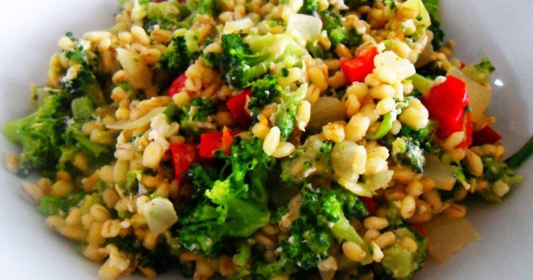 Kasza z brokułami i mozzarellą