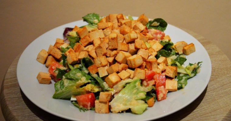 Sałatka z tofu w sosie sojowym (ulubiona!)