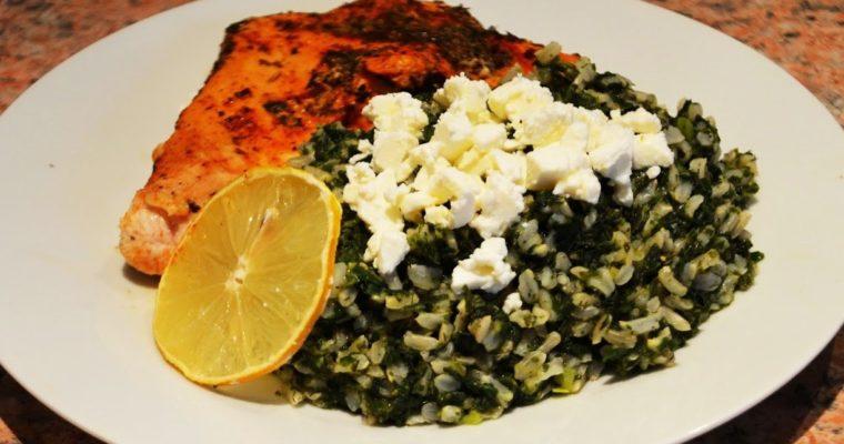 Spanakorizo, czyli grecki ryż ze szpinakiem