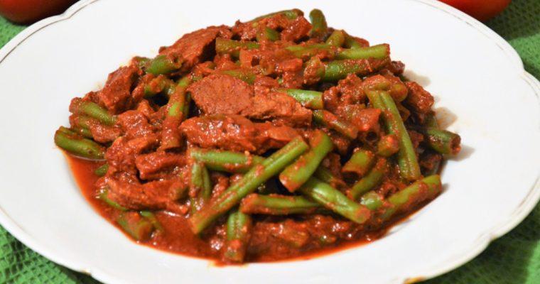 Gulasz meksykański Michoacan, czyli gulasz wołowy z fasolką szparagową