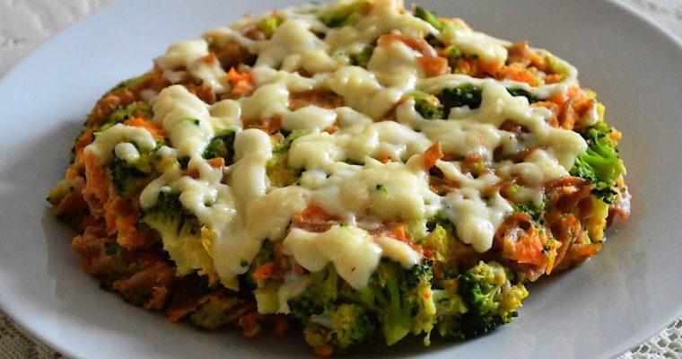 Zapiekanka z batatami i brokułami