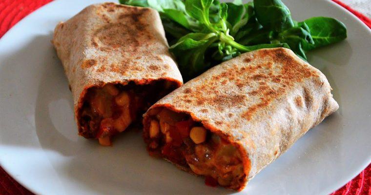Burrito meksykańskie z mięsem mielonym