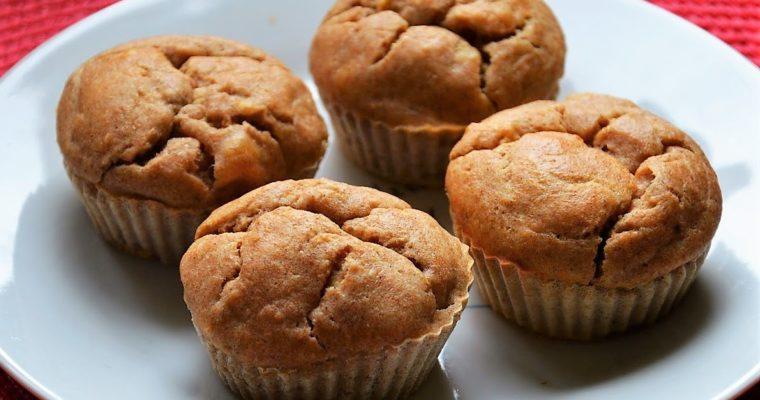 Popękane muffinki ricottowe z bananem i wanilią