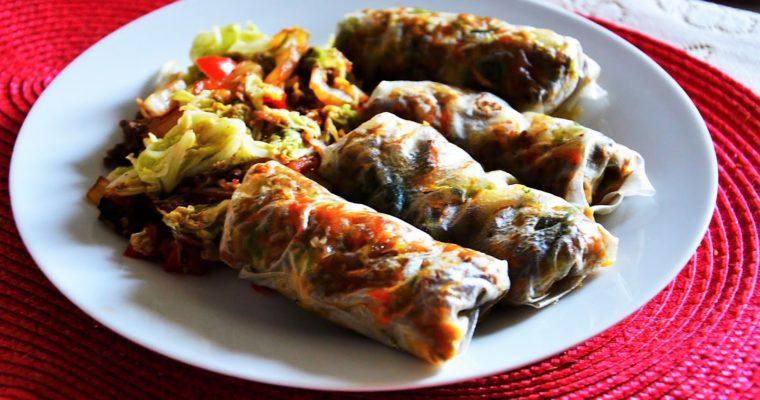 Dietetyczne pieczone sajgonki wietnamskie