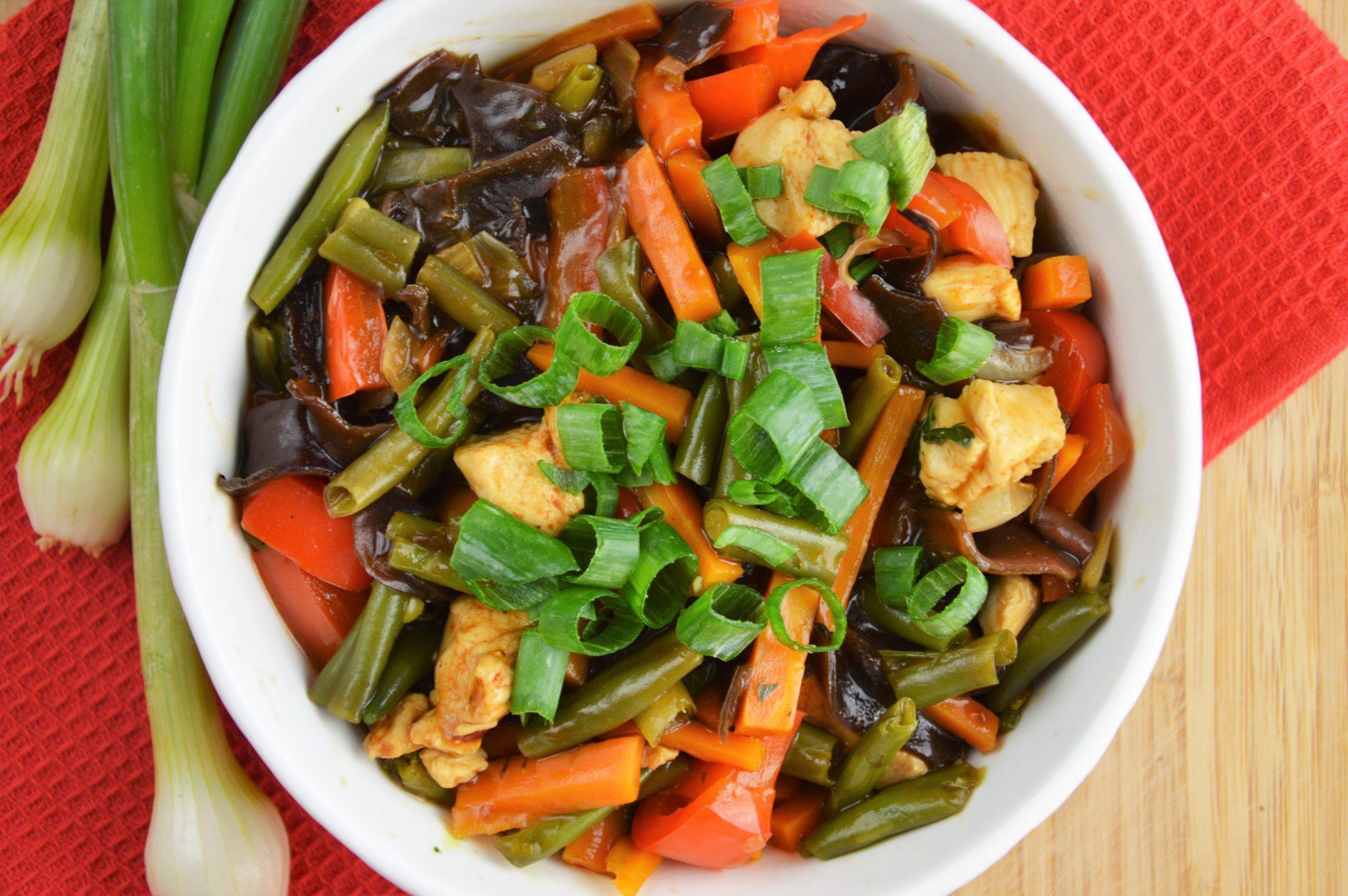 warzywa z kurczakiem