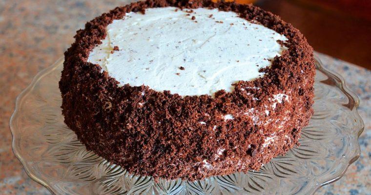 Tort czekoladowy ze śmietanką i nutellą