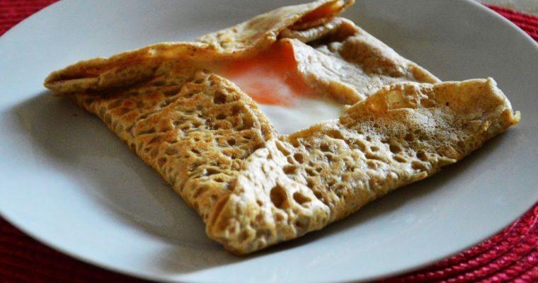 Naleśniki po bretońsku z szynką i serem