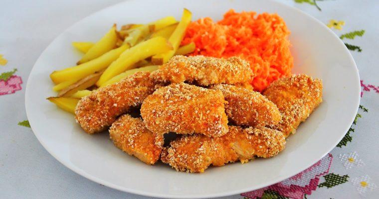 Zdrowe pieczone nuggetsy (otrębowe)