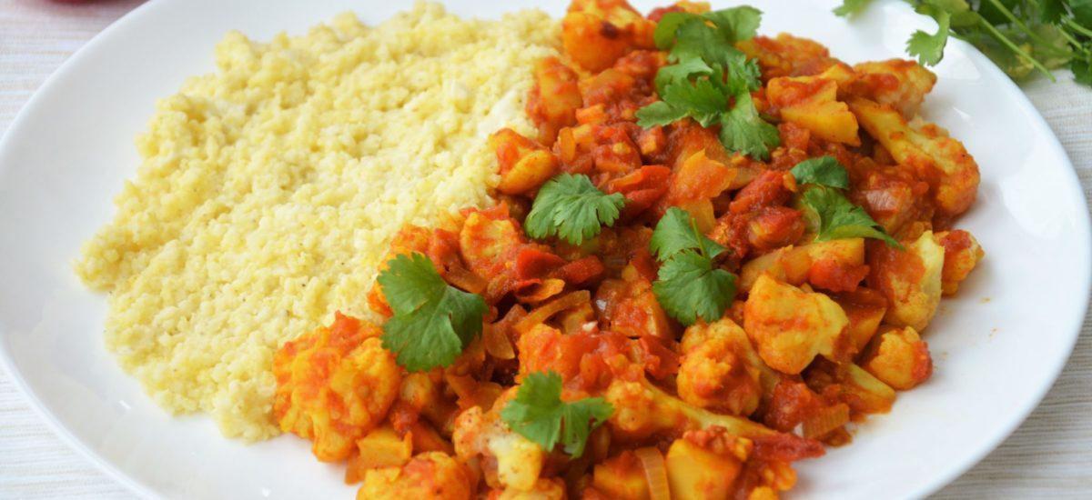 Łatwy wegański kalafior curry