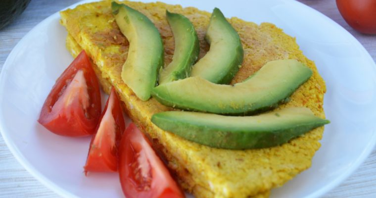 Wegański omlet z tofu
