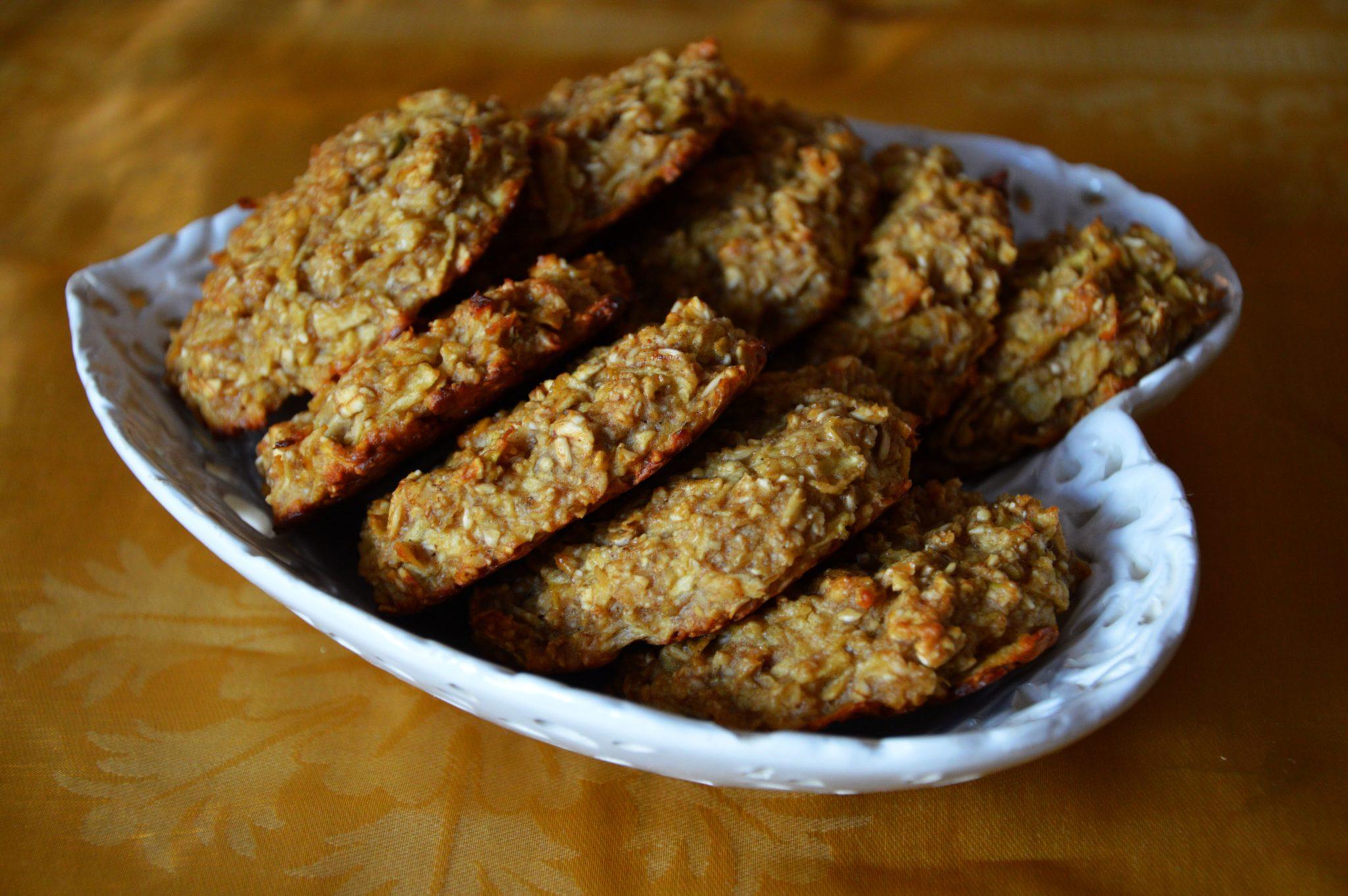 ciasteczka owsiane bez mąki i cukru