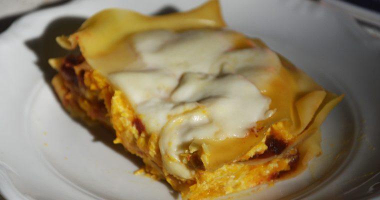 Lasagne z dynią i ricottą