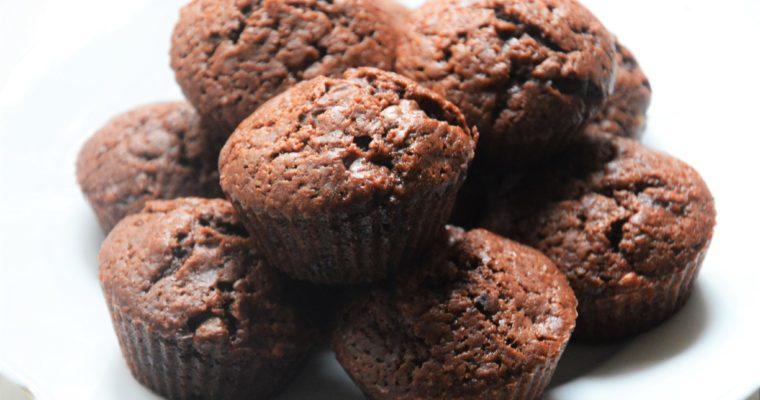 Wegańskie muffinki czekoladowe