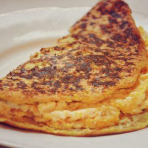 Omlet owsiany z dynią i ricottą