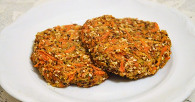 Burgery z marchewki i sezamu