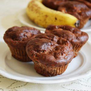 Muffinki czekoladowo-bananowe bez cukru