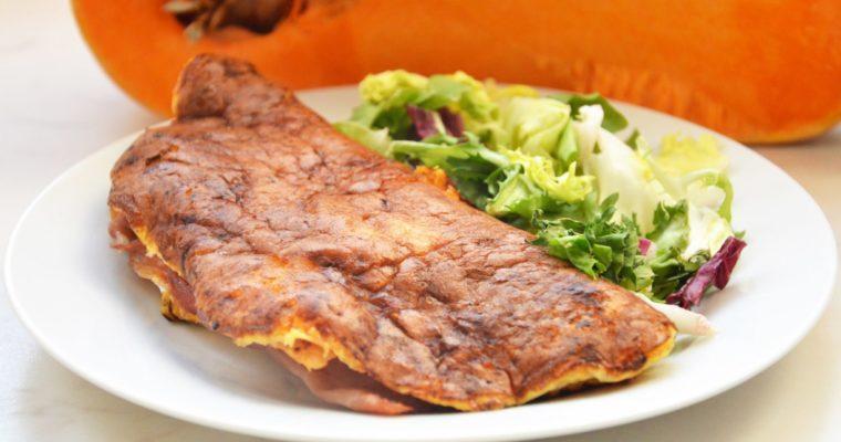 Dwuskładnikowy omlet z dyni