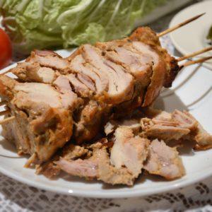 Zdrowy domowy kebab z kurczaka