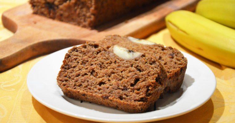 Idealny zdrowy chlebek bananowy bez cukru