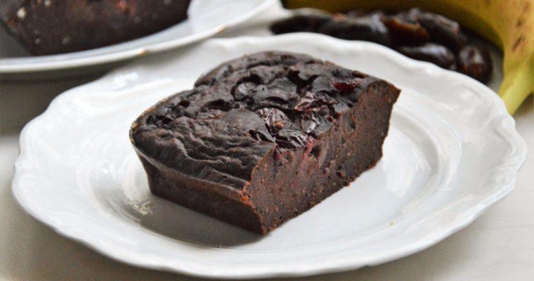 Zdrowe brownies z czereśniami bez cukru