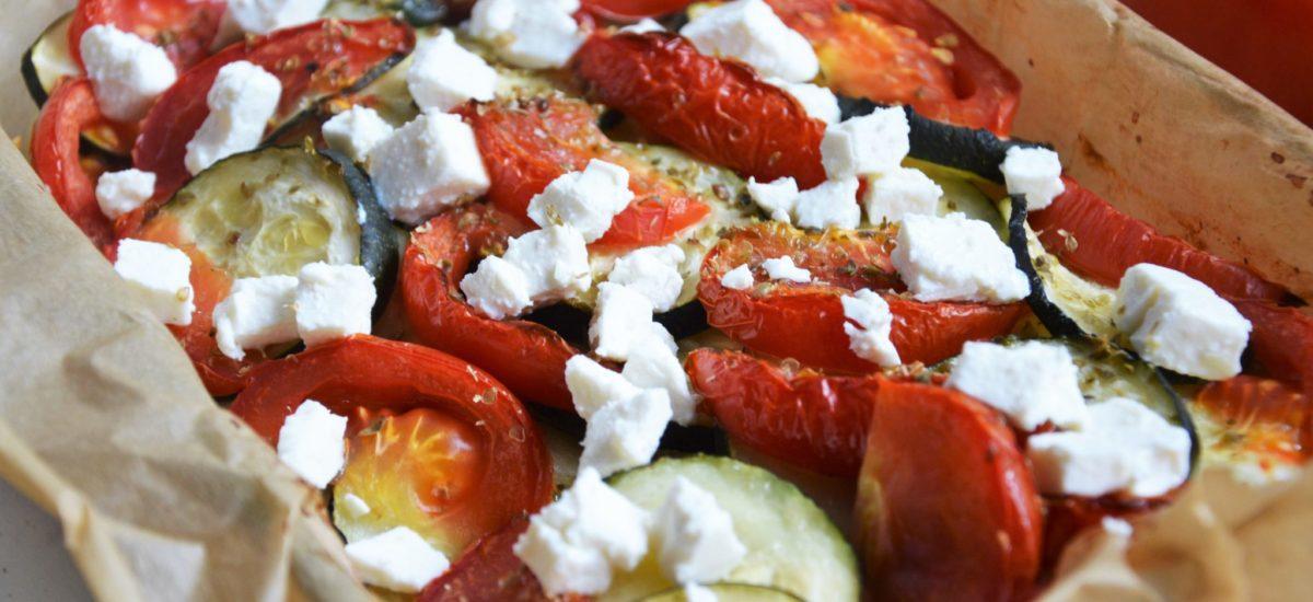 Briam, czyli grecka zapiekanka z cukinii, ziemniaków i pomidorów