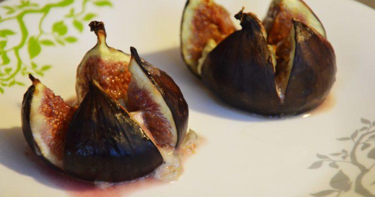 Pieczone figi z gorgonzolą