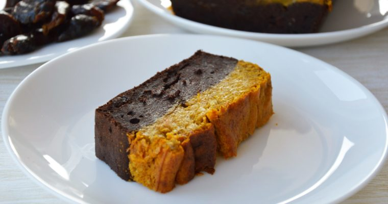 Brownie z pieczonym musem dyniowym bez cukru