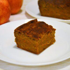 Pomarańczowe zdrowe ciasto z dyni i kaki bez cukru