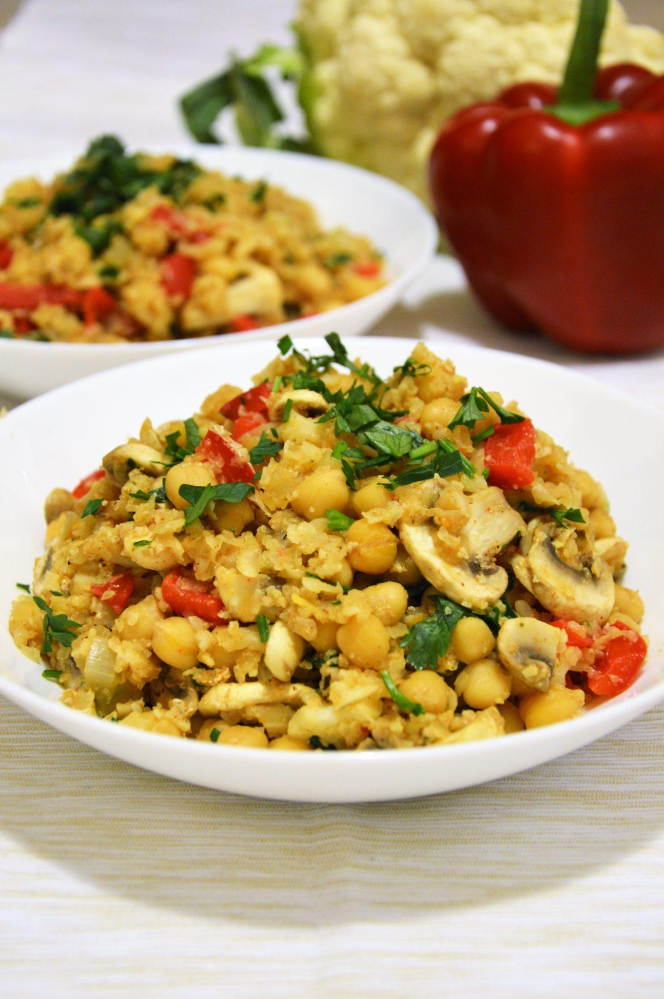 Kolacja bez mięsa - ryż z kalafiora