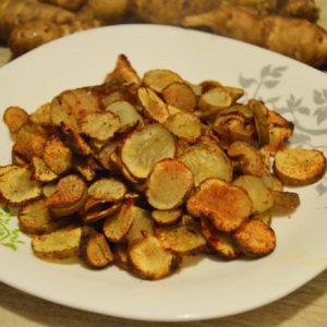Zdrowe chipsy z topinamburu