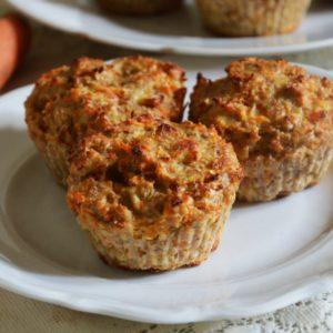 Marchewkowe muffinki sernikowe bez cukru i mąki