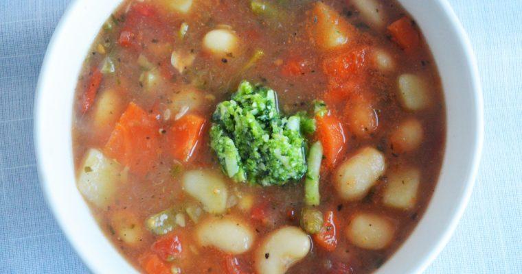 Prowansalska zupa jarzynowa z pistou