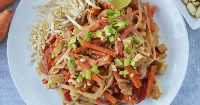 Wegański Pad Thai z warzywami