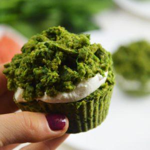 Muffinki Leśny Mech z grejpfrutem - fit i bez cukru