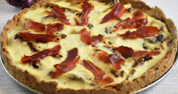 Tarta z ricottą, szynką serrano i suszonymi pomidorami dla leniwych