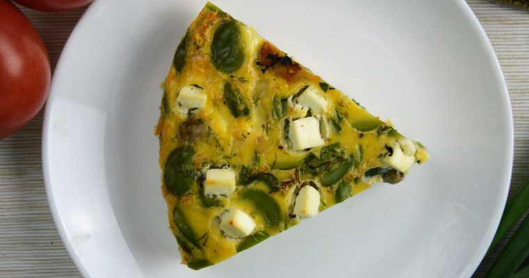 Frittata z bobem i fetą – pieczona i najłatwiejsza