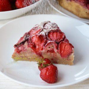 Ciasto z ricotty z truskawkami bez cukru