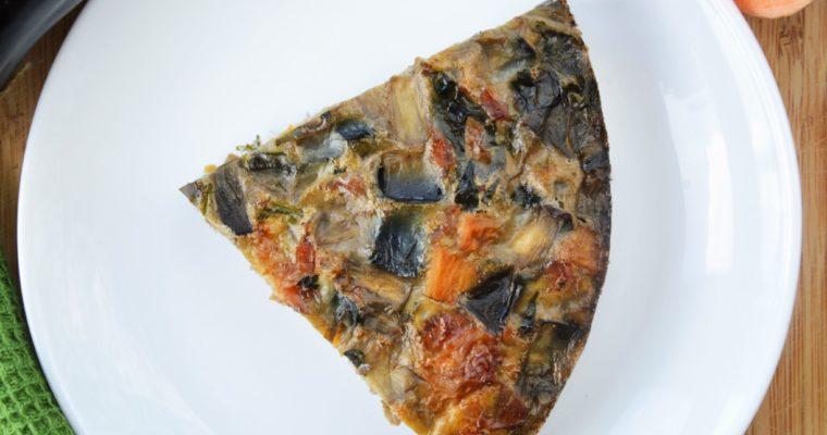 Pieczona frittata z bakłażanem i szynką parmeńską