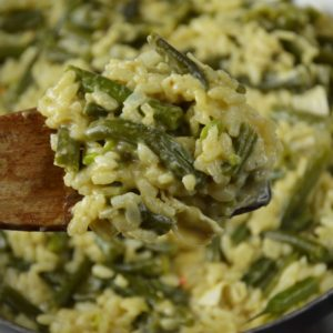 Risotto z fasolką szparagową i serem camembert - super kremowe