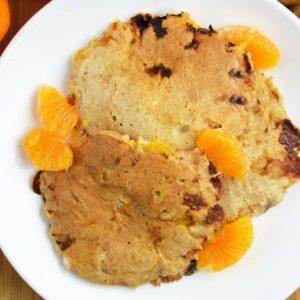 Piernikowe placki z serka wiejskiego z mandarynkami