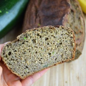 Orzechowy chlebek cukiniowy bez cukru