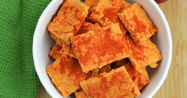 Bezglutenowe wegańskie krakersy z kaszy jaglanej