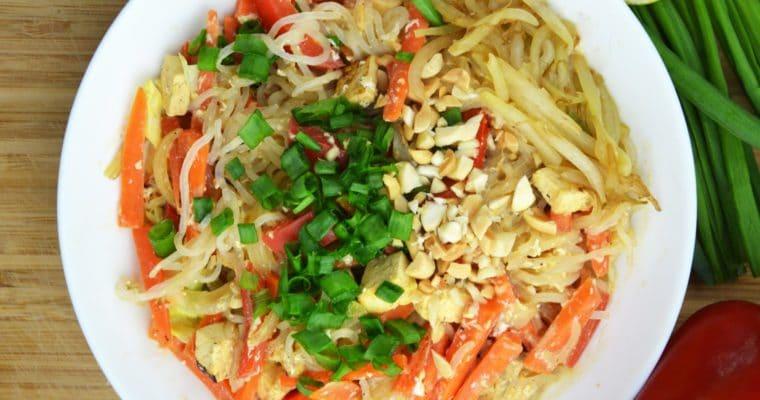 Dietetyczny pad thai – szybki i wegetariański