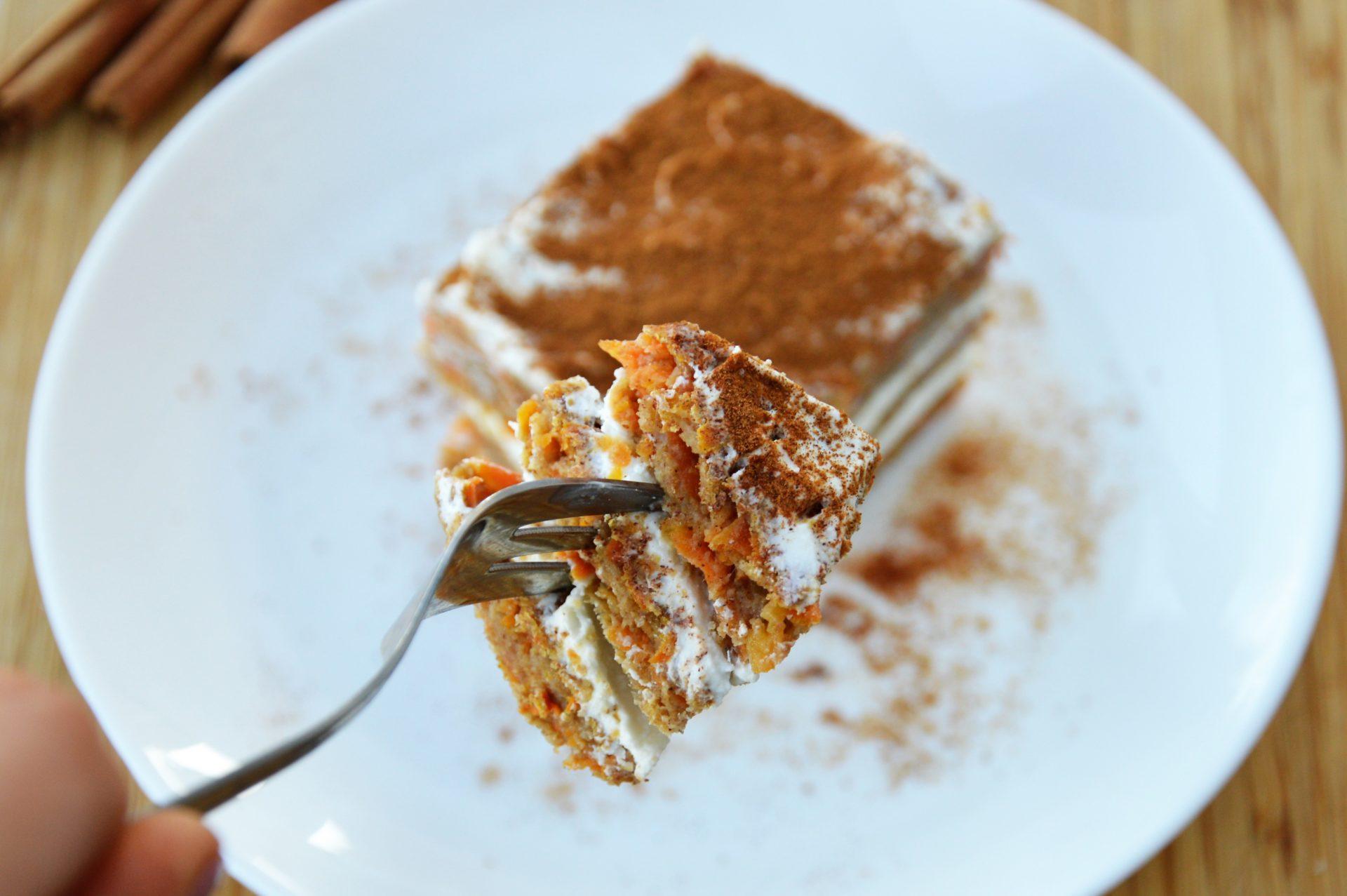 fit ciasto marchewkowe z kremem