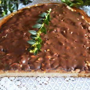 Mazurek snikers - łatwy i bardzo słodki