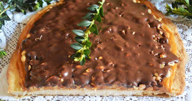 Mazurek snikers – łatwy i bardzo słodki